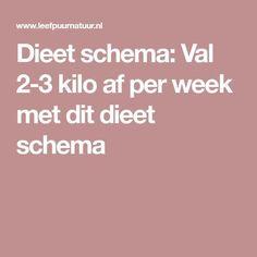 Dieet schema: Val kilo af per week met dit dieet schema - Keto recipes Healthy Recepies, Healthy Options, Healthy Tips, Healthy Eating, Keto, The Splits, Food Inspiration, Love Food, Healthy Lifestyle