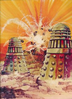 Spectacular artwork from Doctor Who and The Daleks Omnibus book (1976). Art by 'General Illustration Company' 1976