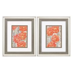 Propac Images Summer Gardens Framed Graphic Art - Set of 2 - 1018