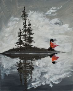 Wild Woman With Trees And Lake Reflection Painting The Art Sherpa - Gallery - The Art Sherpa Community   The Art Sherpa #Art abstracto