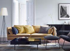 Salon Avec Canapé Jaune Moutarde Ikea