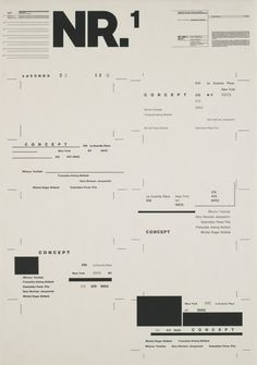 "Typographic Process, Nr 1. Organized Text Structures by Wolfgang Weingart, 34 1/2 x 24 1/4"" (1971)"