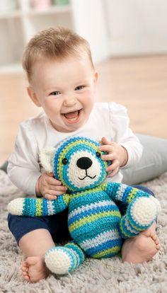 Classic crochet teddy