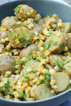 Potato & Grilled Corn Salad with Fresh Dill - Love and Lentils