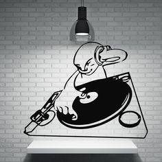Vinyl Decal Musical Wall Stickers DJ Night Club Trance House Music TV Hip Hop (n018)