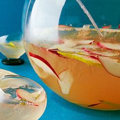 5 perfect cocktail party menus   Pear Punch Sparkler   Sunset.com