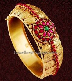 Antique Bangles - Page 2 of 4 Latest Indian Jewelry - Jewellery Designs Jewelry Design Earrings, Coin Jewelry, Necklace Designs, Red Jewelry, Antic Jewellery, Jewellery Designs, Jewelry Patterns, Jewellery Display, Buy Gold Jewellery Online