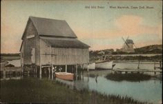 West Harwich Cape Cod MA Old Mill Point Hand Colored c1920s Postcard | eBay
