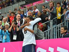 That's a Mama hug.  The culmination. (Getty Images)