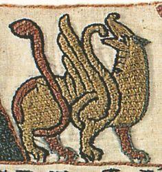 Bayeux Tapestry animal laidwork patterns
