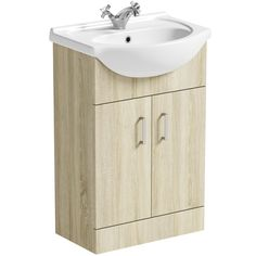 Orchard Eden oak vanity unit and basin Bathroom Storage Units, Bathroom Vanity Units, Contemporary Bathroom Furniture, Oak Vanity Unit, Bathroom Dimensions, Bath Panel, Bathroom Essentials, Engineered Wood, Chrome Finish