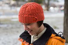 button brim beanie crocheted hat pattern