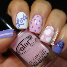 Purple Love Valentines Day nails by @selinasnailart