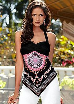 Fashion Women Sleeveless Boho Vest Shirt Wrap Halter Top Blouse Casual  Clothes in Clothing 30abf1721fa7