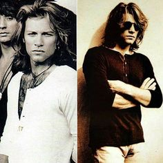 DAMN When men/boys think they're cool and hot, just show them a picture of jon bon jovi, trust me they will feel like shit and with 0 self confidence left (I've personally tested this and it works) Bon Jovi Pictures, Emilio Estevez, Shaggy Long Hair, Jersey Boys, Demi Moore, Jesse James, Jon Bon Jovi, Hottest Pic, Cool Bands
