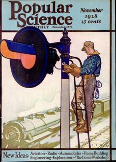 Popular Science  - November 1928  Herbert Paus Cover