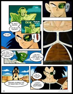 "Page 19 of DragonBall Z Abridged: The Manga The third page of ""Tale 2: MySpace"" which is the second chapter of ""Episode 1: The Return of Raditz… Wait…"""