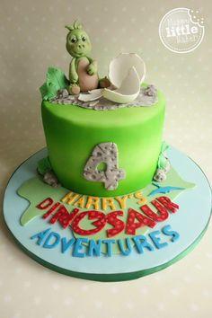 Baby dinosaur birthday cake based on CBeebies' Andy's Dinosaur Adventure programme.
