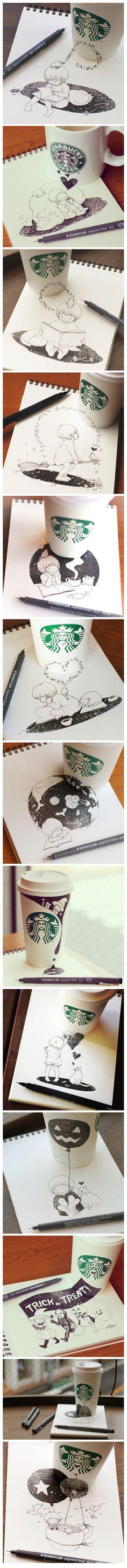 Lovely doodles by Japanese artist Tomoko Shintani.