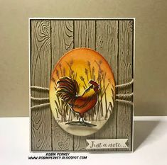 Stampin' Up! home to roost Masculine Birthday Cards, Masculine Cards, Home To Roost, Horse Cards, Chickens And Roosters, Fancy Fold Cards, Bird Cards, Stamping Up Cards, Animal Cards