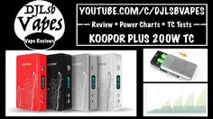 KOOPOR PLUS 200W TC Review + Power Charts + TC Tests + Giveaway in descr...