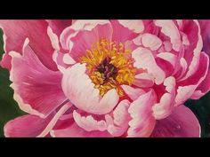 Learn how to paint a beautiful pink peony blossom in this free full-length acrylic painting tutorial by Angela Anderson. This lesson includes techniques in b...