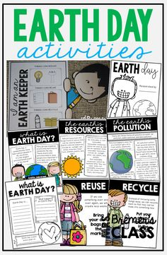 This pack contains information and activities about what the earth gives us, what humans do to the earth, and how your students can join in and do their part to help make the world a cleaner, healthier place to live. 2nd Grade Activities, Earth Day Activities, Social Studies Activities, Kindergarten Activities, Science Activities, Writing Activities, Classroom Activities, Spring Activities, Earth Day Information