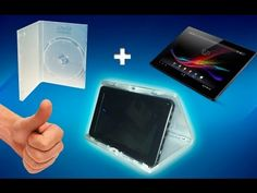 Suport pra tablet feito de caixa de DVD