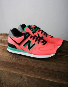New Balance Women's WL574 - Pink/Green