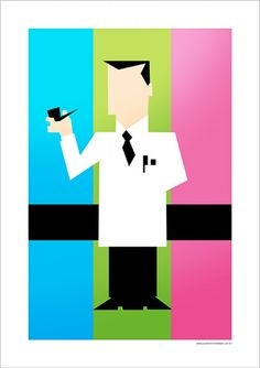 Professor Utônio - Cartoon Network - Desenhos | Posters Minimalistas