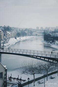 Winter in Görlitz, Border to Poland, River Neisse  http://lieblingsidee.blogspot.de/2013/01/winter-in-gorlitz.html