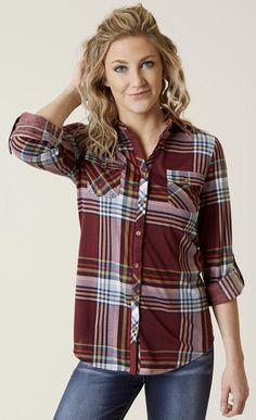 Casual Fashion for Women : Daytrip Plaid Shirt   Buckle