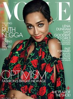 Cover girl:The Irish-Ethiopian beauty, who was photographed by Mario Testino, looked stri...