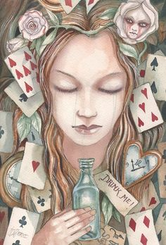 Illustrations to Alice in Wonderland Dominic Murphy Lewis Carroll, Alice And Wonderland Quotes, Adventures In Wonderland, Illustrations, Illustration Art, Inspiration Artistique, Alice Madness, Fairytale Art, Through The Looking Glass