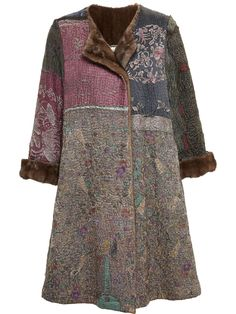 By Walid Antique Chinese Textile Coat With Mink Lining - Browns - Farfetch.com