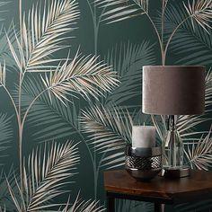 South Beach Emerald Wallpaper
