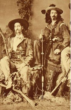 """Buffalo Bill and Wild Bill. How did William F. """"Buffalo Bill"""" Cody and James Butler """"Wild Bill"""" Hickok know each other? Our """"Papers of William F. Old West Outlaws, Westerns, Old West Photos, Into The West, The Lone Ranger, American Frontier, Cowboy Art, Le Far West, Mountain Man"""