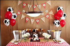 cowboy party... i like the balloon idea