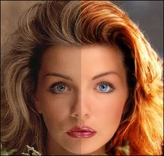 Face Makeover--some very helpful info on changing colors/lightening and darkening hair and eyes