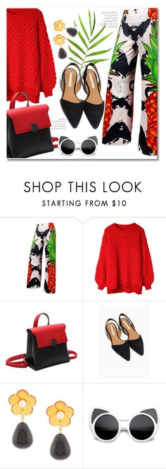 """""""Pineapple print"""" by laurafox27 ❤ liked on Polyvore featuring Lizzie Fortunato"""