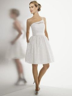 Hermosos Vestidos de Novia Cortos para Boda Civil
