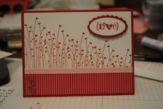 Stampin Up Valentine's Day Card. (Wonder what stamp set this is)