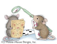 """Maxwell and Muzzy from House-Mouse Designs® featured on the The Daily Squeek® for April 7th, 2013. Click on the image to see it on a bunch of really """"Mice"""" products."""