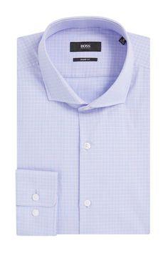 Boss Windowpane Cotton Dress Shirt 863b5d551adb8