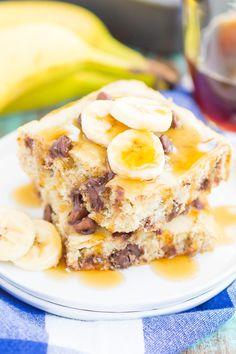 Banana Chocolate Chip Sheet Pan Pancakes {Plus a video!}