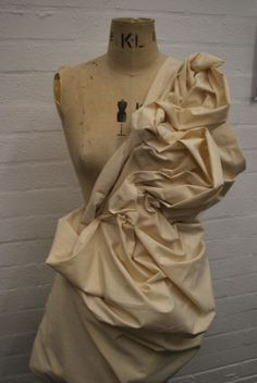 Draping on the stand using 3 meters of calico