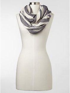 Indigo stripe infinity scarf   Gap