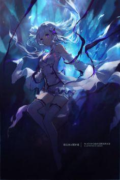 Heaven Wallpaper: Re:ゼロから始める異世界生活 Re Zero Kara Hajimeru Kawaii Anime Girl, Anime Art Girl, Re Zero Wallpaper, Heaven Wallpaper, Girls Manga, Animé Fan Art, Pixiv Fantasia, Image Manga, World Of Darkness