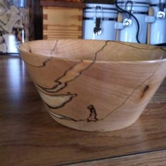 A third view showing the design in the bowl made by my husband.
