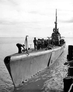 USS Gabilan arriving in port in Australia, late 1944